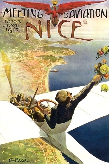 nice_french_aviation_travel_posterRED